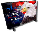 Decorative American Patriotic Eagle Stone Plaque