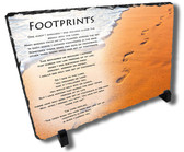 Decorative Footprints Stone Plaque