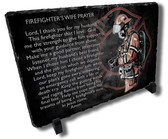 Decorative Firefighter Wife Prayer Stone Plaque