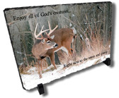 Decorative Deer Hunter Stone Plaque