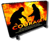 Decorative Firefighter Courage Stone Plaque