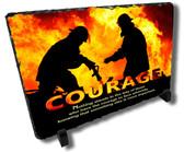 Decorative Firefighter Courage Stone Plaque