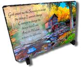 Decorative Deer Hunter Stone Plaque