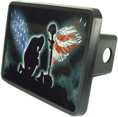 Fallen Soldier Trailer Hitch Plug Side View