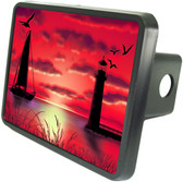 Evening Sunset Trailer Hitch Plug Side View