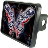 Rebel Butterfly Trailer Hitch Plug Side View