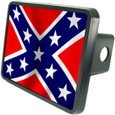 Rebel Flag Trailer Hitch Plug Side View