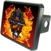 Firefighter Helmet Trailer Hitch Plug Side View