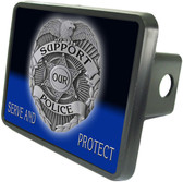Support Law Enforcement Trailer Hitch Plug Side View