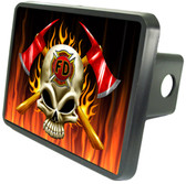 Firefighter Skull Trailer Hitch Plug Side View