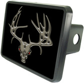 Deer Skull Trailer Hitch Plug Side View