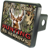 Hunting Is Serious Trailer Hitch Plug Side View