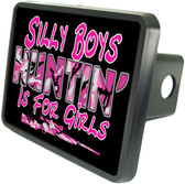 Hunting Is For Girls Trailer Hitch Plug Side View
