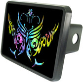 Tribal Butterfly Trailer Hitch Plug Side View