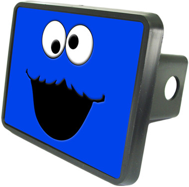 Cookie Monster Trailer Hitch Plug Side View