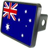 Australian Flag Trailer Hitch Plug Side View