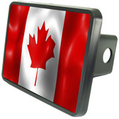 Canadian Flag Trailer Hitch Plug Side View