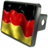 German Flag Trailer Hitch Plug Side View
