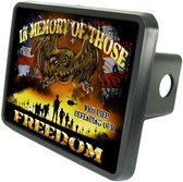 Fallen Soldier Memory Trailer Hitch Plug Side View