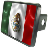 Mexico Flag Trailer Hitch Plug Side View