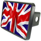 British Flag Trailer Hitch Plug Side View