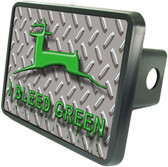 Bleed Green Trailer Hitch Plug Side View