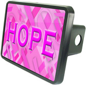 Breast Cancer Hope Trailer Hitch Plug Side View