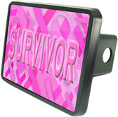 Breast Cancer Survivor Trailer Hitch Plug Side View