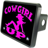 Cowboy Up Trailer Hitch Plug Cover