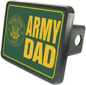 Army Dad Trailer Hitch Plug Side View