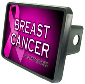 Breast Cancer Trailer Hitch Plug Side View