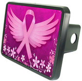 Breast Cancer Butterfly Trailer Hitch Plug Side View
