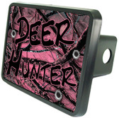 Deer Hunter Pink Camo Trailer Hitch Plug Side View