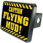 Caution Flying Mud Trailer Hitch Plug Side View
