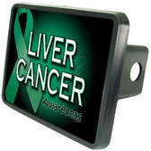 Liver Cancer Awareness Trailer Hitch Plug Side View