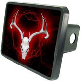 Red Deer Skull Trailer Hitch Plug Side View