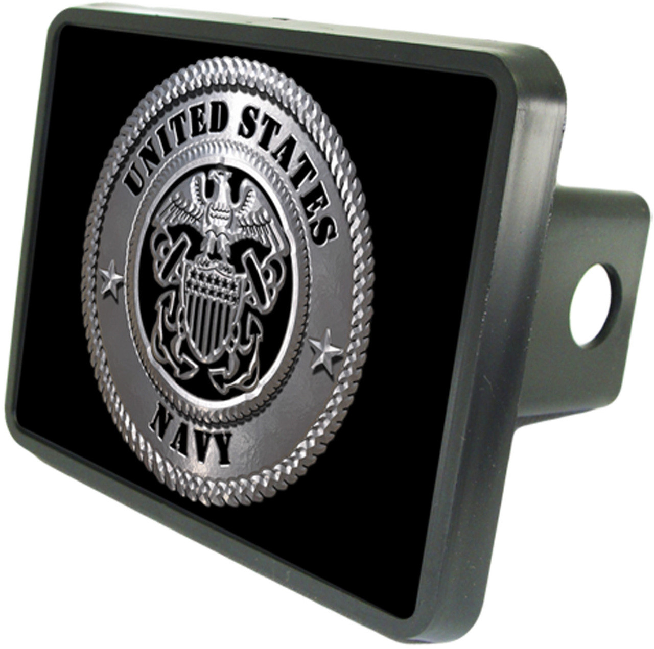 """Lincoln Logo UV Graphic Metal Plate on ABS Plastic 2/"""" Tow Hitch Cover"""