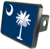 South Carolina Flag Trailer Hitch Plug Side View