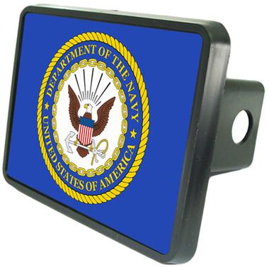 United States Navy Emblem Trailer Hitch Plug Side View