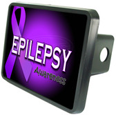 Epilepsy Awareness Trailer Hitch Plug Side View