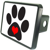 Love My Dog Trailer Hitch Plug Side View
