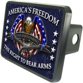 Second Amendment Eagle Trailer Hitch Plug Side View