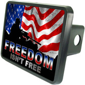 Freedom Isn't Free Trailer Hitch Plug Side View