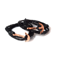 Faith Love Hope - Anchor Bracelet for Men and Women-Durable Wrist Bangle-Unisex Fashion Jewelry (Black Bronze)
