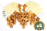 100  A+ Certified Olive Wood Comfort / Holding Cross Wedding Cross ($4.20 Each)