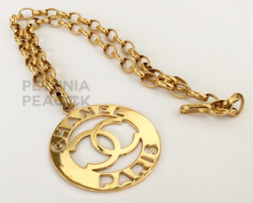 CHANEL PARIS MEDALLION NECKLACE