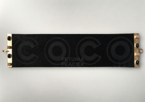 "CHANEL LEATHER & SEMI-PRECIOUS STONE ""COCO"" BRACELET"