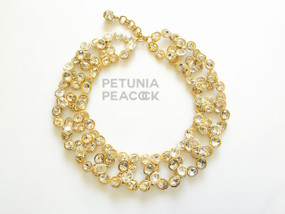 CHANEL COUTURE CRYSTAL OVAL LINK NECKLACE