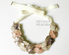 CHANEL CAMELLIA PASTEL ENAMEL NECKLACE