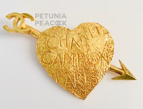 CHANEL GRAFFITI HEART BROOCH